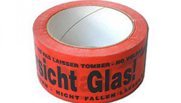 """Kleberolle """"VORSICHT GLAS"""""""